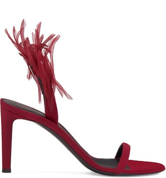 Giuseppe Zanotti Fenice Crazyhorse-embellished 85mm sandals