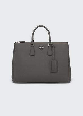 Prada Men's Galleria Saffiano Dual-Zip Shopper Tote Bag