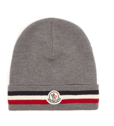 Moncler Striped wool beanie hat