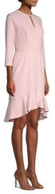 Shoshanna Women's Arnett Ruffled Blouse Dress - Blush - Size 8