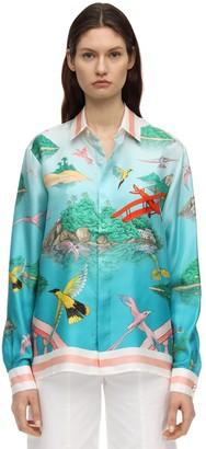 Casablanca Printed Angra De Jour Silk Shirt