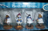 Boston Warehouse Bouncy Animal Chef Place Card Holders (set of 4) - Item 18642 by