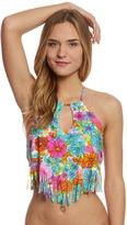 Hobie Swimwear Fleur To Love High Neck Tankini Top 8153590