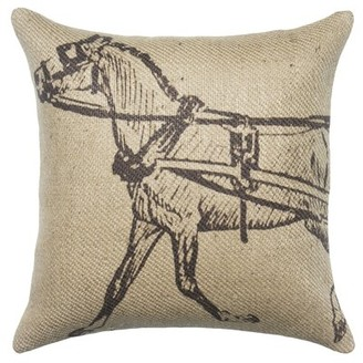Bally Hayfork Burlap Throw Pillow Loon Peak