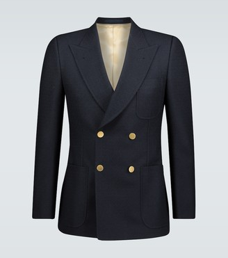 Gucci Textured wool jacket