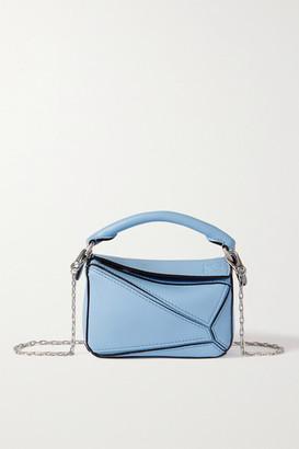 Loewe Puzzle Nano Textured-leather Shoulder Bag - Blue