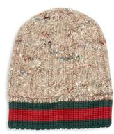 Gucci Wool, Alpaca & Silk Blend Cable Knit Hat
