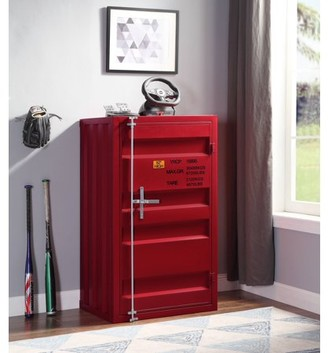 ACME Furniture Acme Cargo Container Style Metal Chest with 1 Door, Multiple Colors