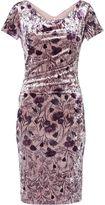 Gina Bacconi Phoebe Floral Velvet Dress