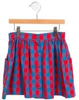 Sonia Rykiel Girls' Gingham Gathered Skirt