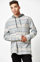 Billabong Baja Hooded Flannel Long Sleeve Button Up Shirt