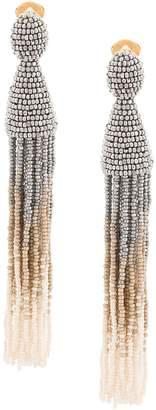 Oscar de la Renta ombré beaded tassel earrings