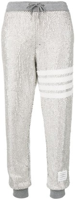 Thom Browne Allover Crystal Sweatpants