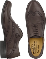 Pakerson Dark Brown Handmade Italian Leather Wingtip Oxford Shoes