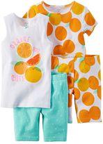 Carter's Girls 4-10 4-pc. Fruit Pajama Set