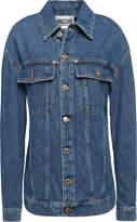 Moschino Embroidered Embellished Denim Jacket
