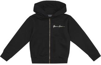 Versace Kids GV Signature zipped cotton hoodie