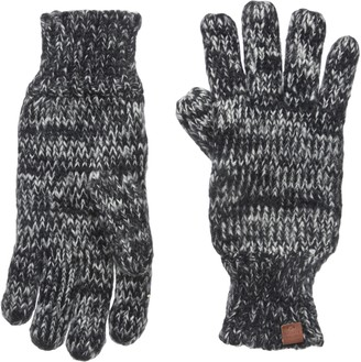 Bickley + Mitchell Women's Mixed Knit Gloves with Fleece Lining