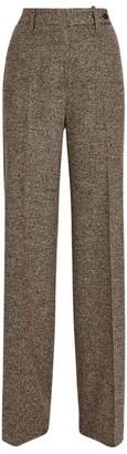 Kiton Wool-Blend Wide-Leg Trousers