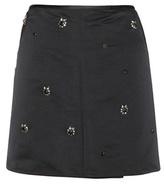 Marni Embellished satin skirt
