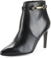Cole Haan Loveth Side-Buckle Leather Bootie, Black
