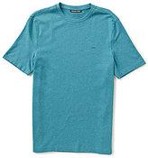 Michael Kors Liquid Crew Solid Knit Short-Sleeve Tee