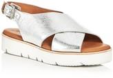 Gentle Souls Kiki Metallic Crisscross Slingback Sandals
