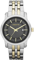 Claiborne Mens Two-Tone Watch