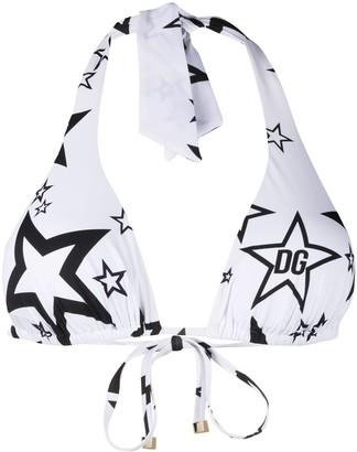 Dolce & Gabbana Halter Neck Bikini Top