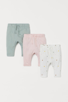 H&M 3-pack Jersey Pants - Pink