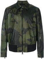 Neil Barrett camouflage bomber jacket - men - Calf Leather/Lamb Skin/Polyamide/Cupro - XL