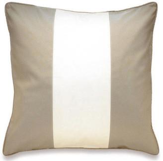 OKA Silk Taffeta Stripe Cushion Cover - Grey