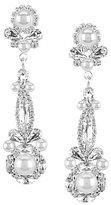 Cezanne Floral Faux-Pearl & Crystal Linear Drop Statement Earrings