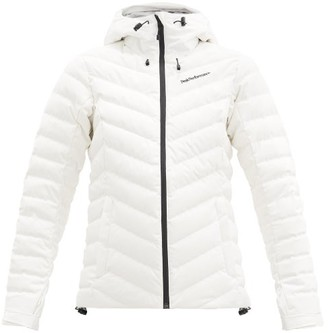 Peak Performance Frost Hooded Quilted Down Ski Jacket - Ivory