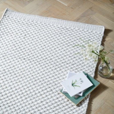 The White Company Brampton Medium Rug, Ivory, Medium