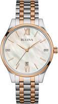 Bulova 36mm Two-Tone Bracelet Watch w/ Diamonds