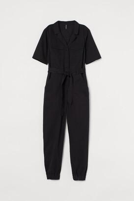 H&M Cotton Twill Jumpsuit