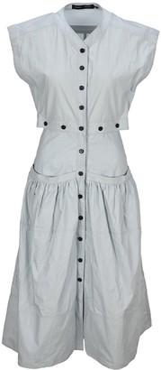 Proenza Schouler Button-Up Tiered Dress