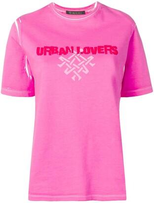 Mr & Mrs Italy printed 'urban lovers' T-shirt