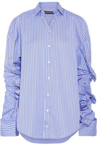 Y/PROJECT - Oversized Striped Cotton-poplin Shirt - FR36
