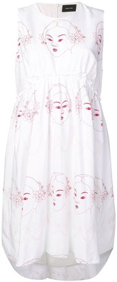 Simone Rocha Sleeveless Flared Dress
