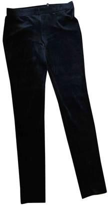 Theory Black Velvet Trousers