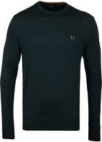 Fred Perry British Racing Green Classic Crew Neck Sweater