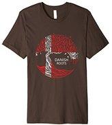 Mens Danish Roots Flag Pride Tree Shirt 2XL