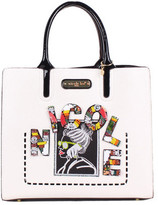 Nicole Lee Women's Jezebel Beaded Patch Tote Bag with Pouch