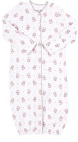 Barneys New York Lion-Print Convertible Gown-WHITE, PINK