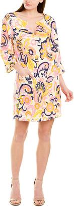 Julie Brown Linen-Blend Shift Dress