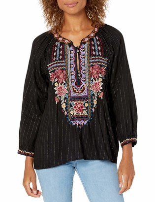 3J Workshop by Johnny was Women's Blouse with Embroidery and tie Back