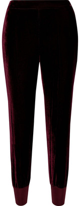 Stella McCartney Julia Velvet Track Pants