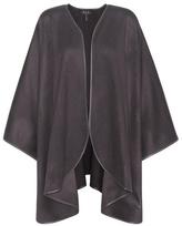 Loro Piana Regina Leather-trimmed Cashmere Cape